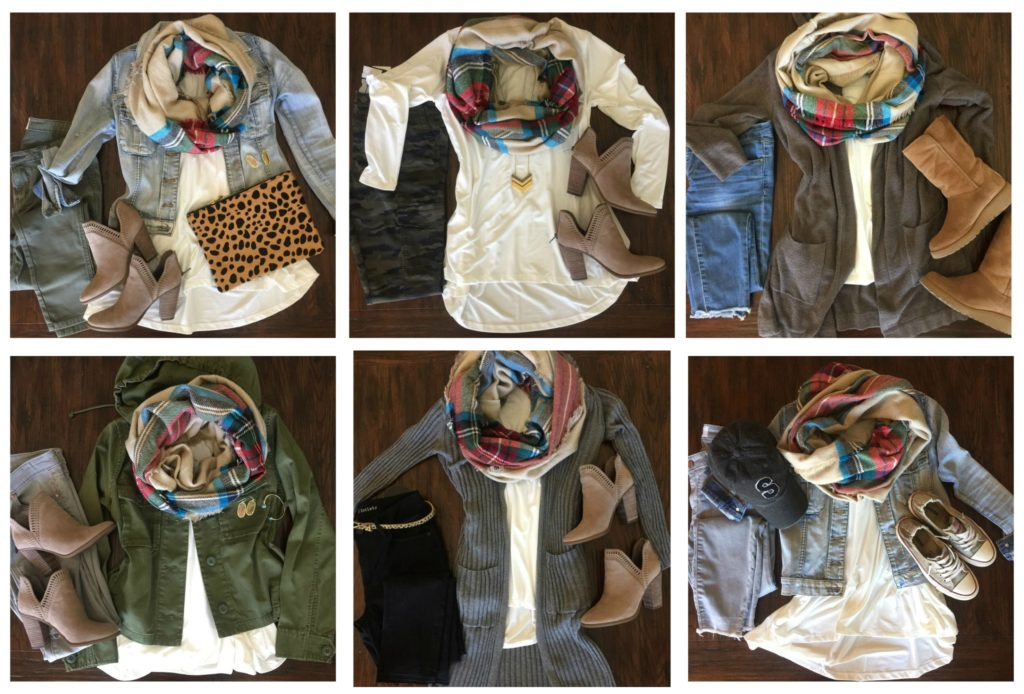 A White Tee and a Scarf: Styled in 6 Different Outfits!