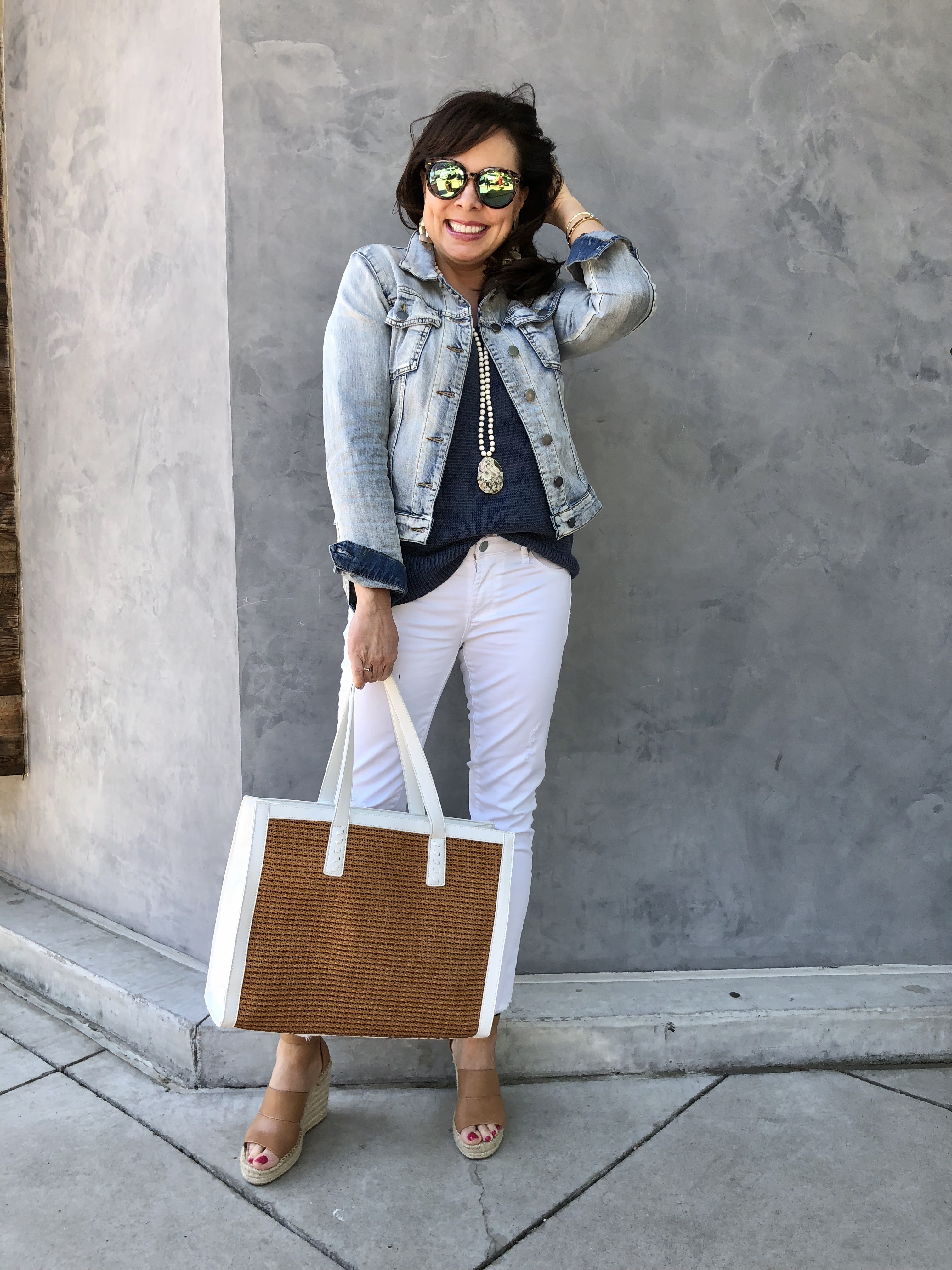 f96c44e25f How to Wear White Jeans and Denim Jacket — Sheaffer Told Me To