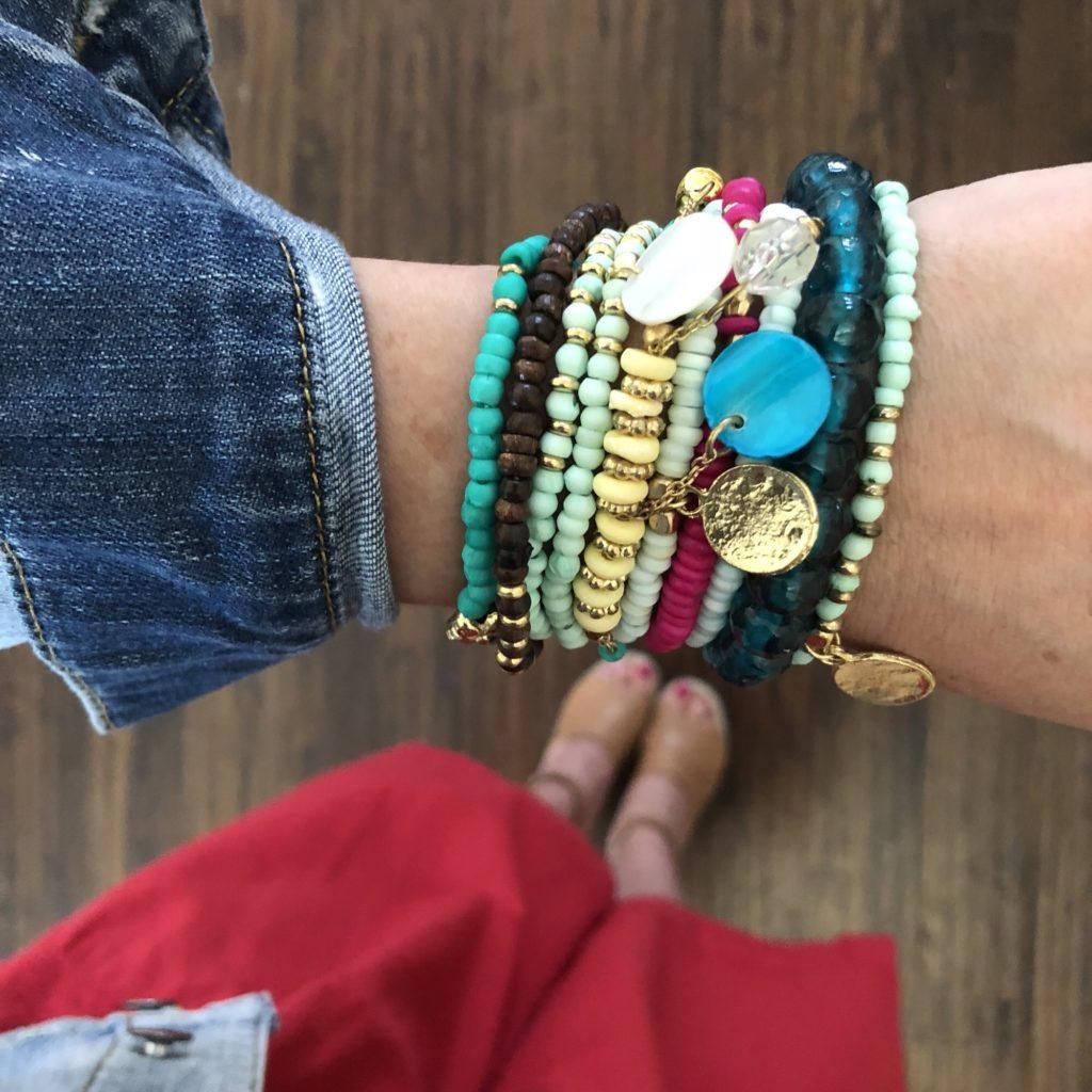 bracelet arm stack