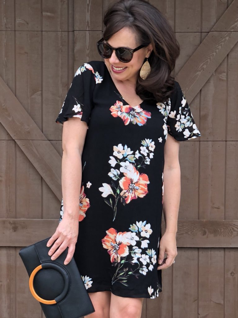 floral shift summer dress
