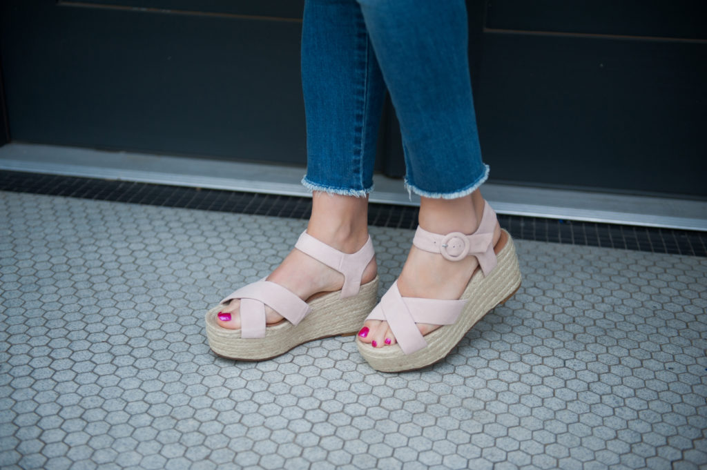 blush wedges and best jeans for summer 2018