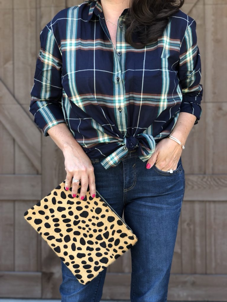 flannel and leopard