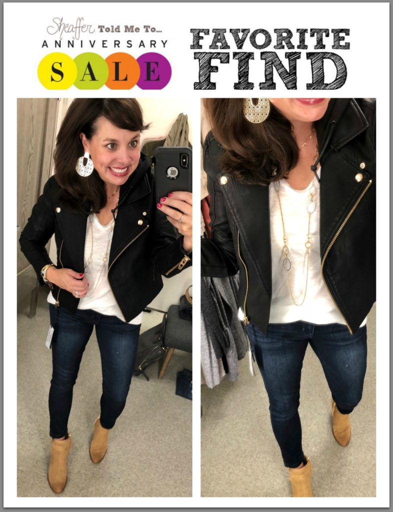 Nordstrom Anniversary Sale Early Access faux leather moto jacket