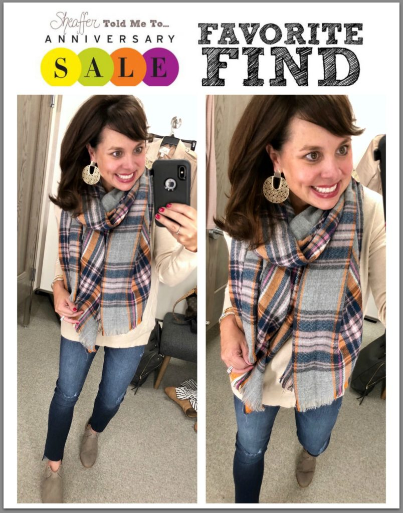 Nordstrom Anniversary Sale Early Access plaid blanket scarf