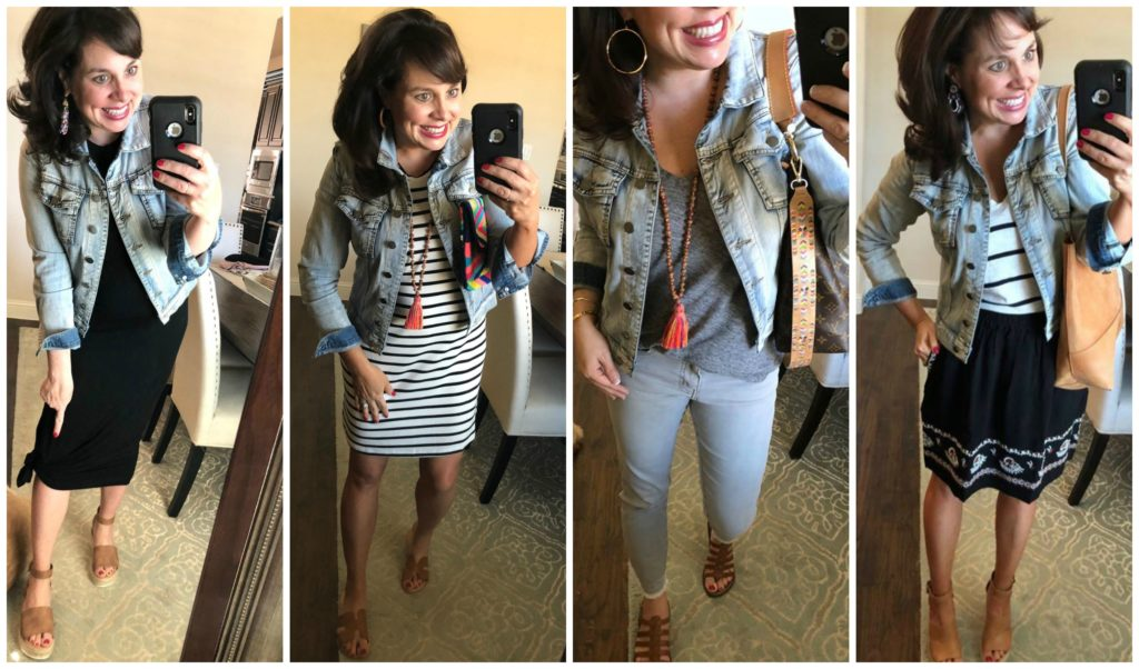 Sheaffer Told Me To DENIM JACKET LOVE and a FABULOUS LEOPARD TOTE