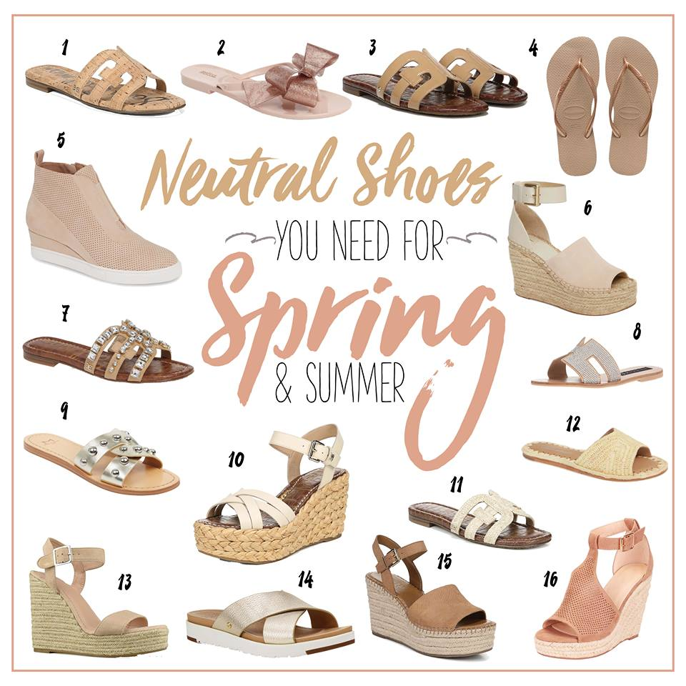 Sheaffer Told Me To NEUTRAL SHOES FOR SPRING AND SUMMER