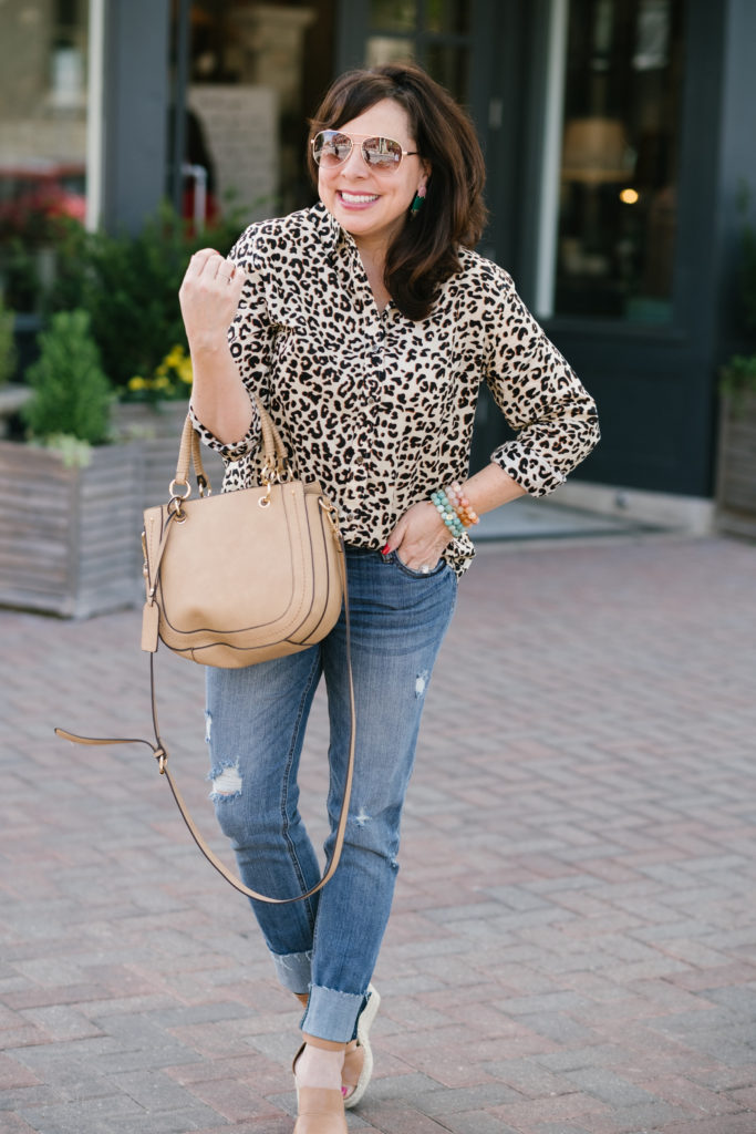 Sheaffer Told Me To Spring Dressing: Style It Again, Leopard Button Up