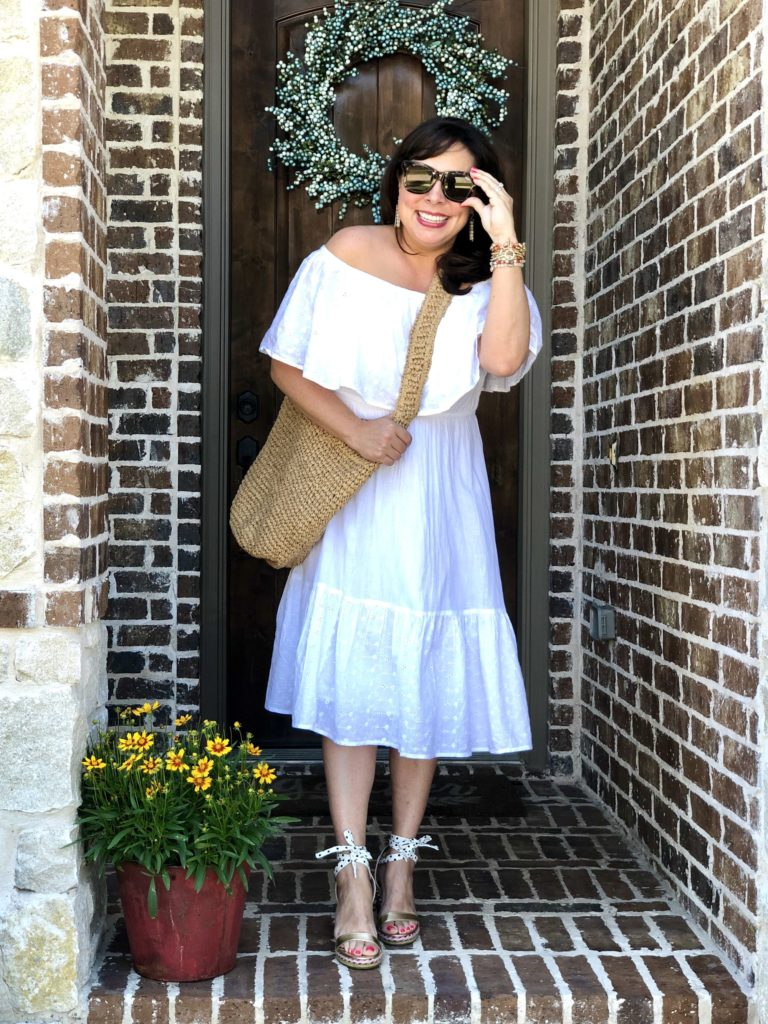 Sheaffer Told Me To An Eyelet Dress and Darling Wedges| We Dress America