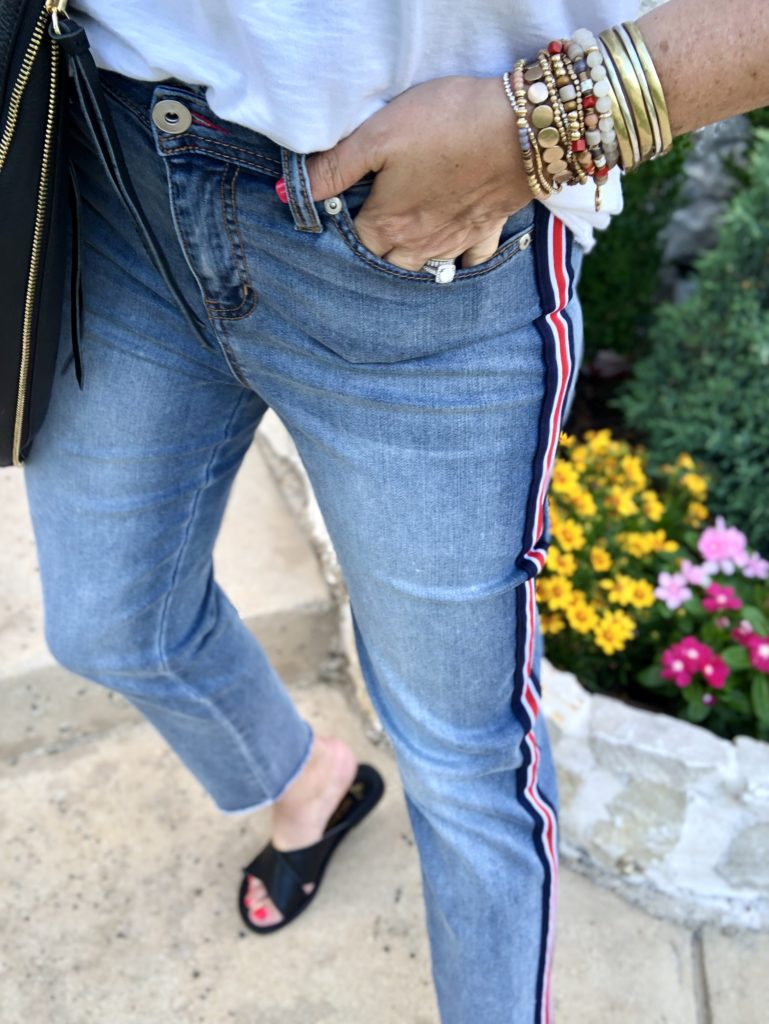 Sheaffer Told Me To SIDE STRIPED JEANS| We Dress America
