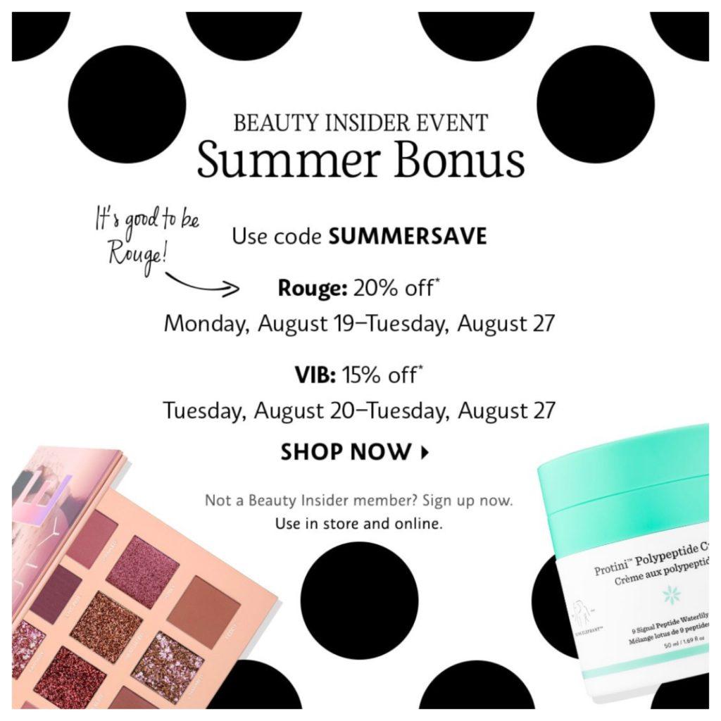 Sheaffer Told Me To Sephora's Summer Bonus Event!