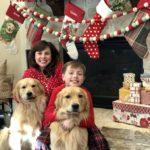 Christmas Hand Print Art, Christmas Home Tour, and an Easy and Beautiful Christmas Dessert